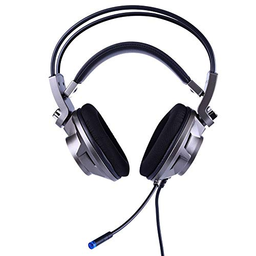 MAIEY Enfriar LED Light Gaming Headset 7.1 Canales Equipo Auricular con micrófono y cancelación de Ruido y Control de Volumen for el Interruptor de la PC del Ordenador Mac PS4 Xbox One