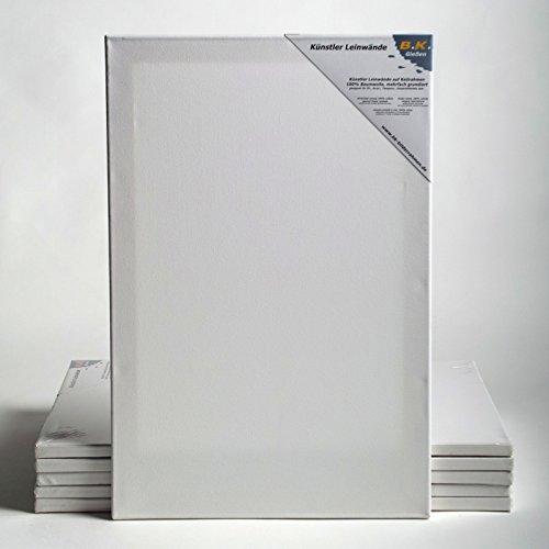 BK BILDERRAHMEN KOLMER 6 B.K. Plus LEINWÄNDE AUF KEILRAHMEN 80x100 cm | Premium Malgrund, malfertig, 100% Baumwolle