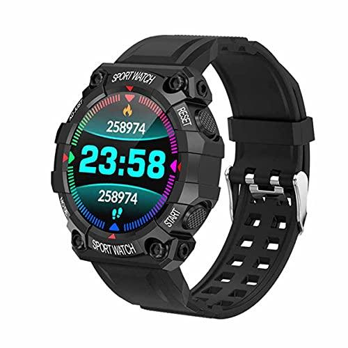 Smartwatches,Fitnessuhr für Android- und iOS-Telefone,Sleep Activity Tracker Pulsmesser IP68 Schwimmen Wasserdicht 1,54 Zoll Digital Smartwatch für Damen Herren (Black)