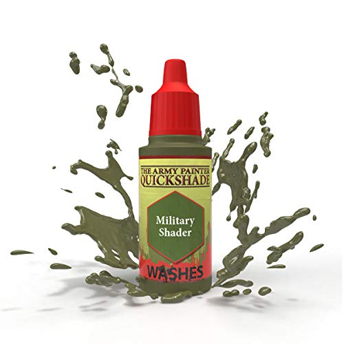 The Army Painter Military Shader Quickshade - Non-Toxic Lightly Pigmented Water Based Wash Paint for Tabletop Roleplaying, Boardgames, and Wargames Miniature Model Painting