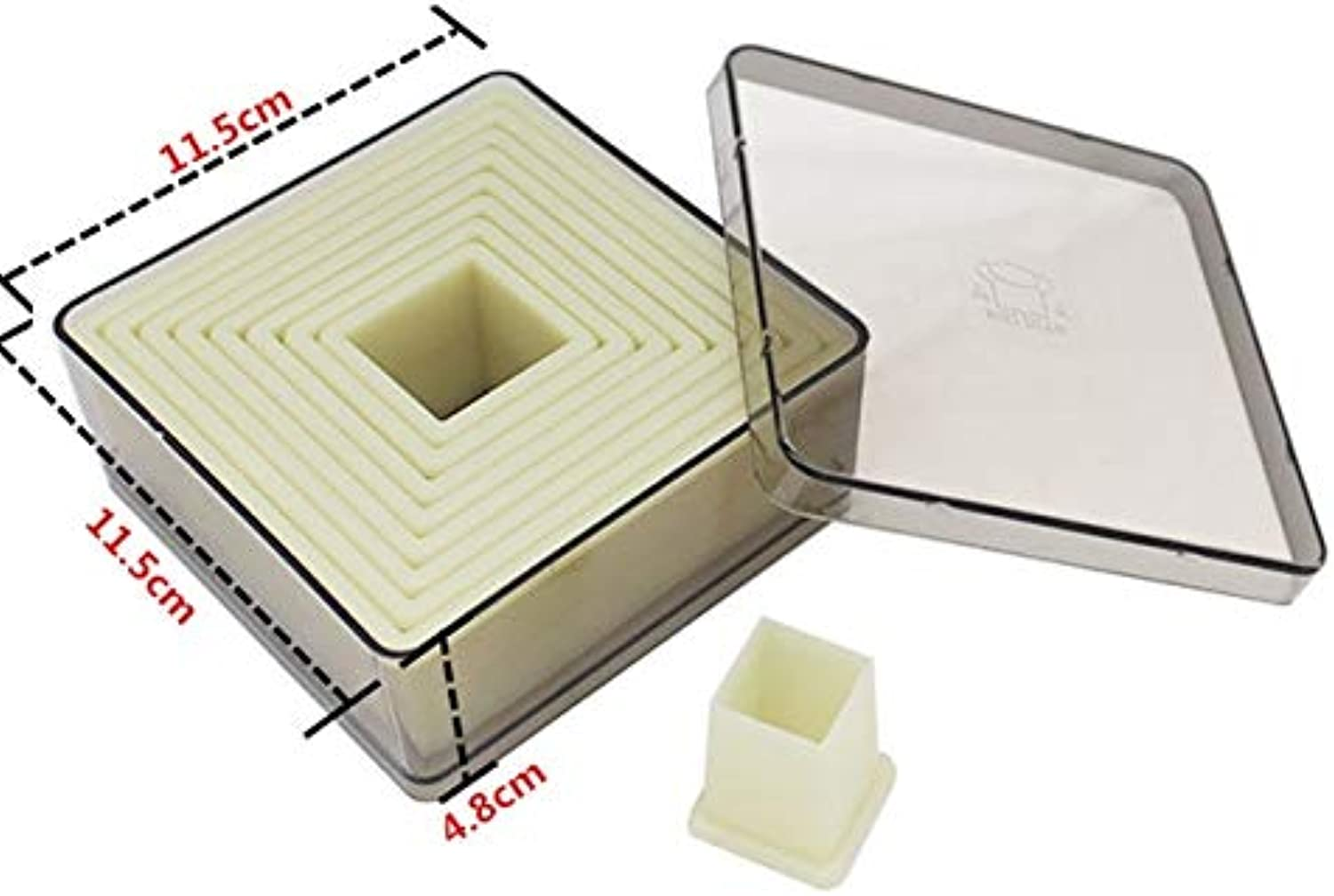 High Quality Nylon Cookies Cutter Set Plastic Cookies Mold 3D Biscuit Molds Kitchen Baking Mould   Square Shape
