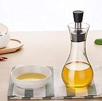 WZHONG キッチン家庭漏れ防止調味料の瓶ガラスのオイルボトルガラス調味料ボトル酢ボトルオイルポット (Color : Clear, Size : 250ml)
