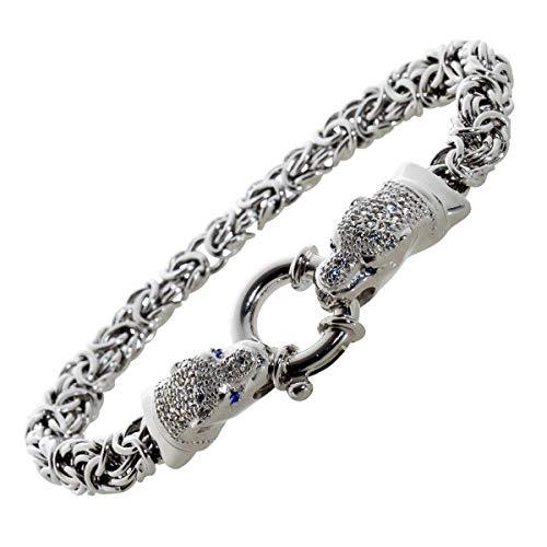 CH.ABRAMOWICZ Silberarmband ID-Armband Silber massiv rhodiniert poliert