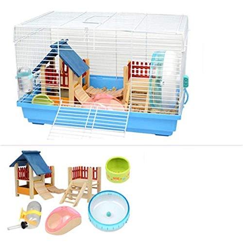 CSWO Cage Hamster Hamster Dormir, Exercice, Jouet Dreamy Big Castle surdimensionné Mouse Villa Transparent
