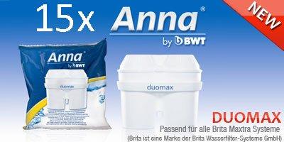 15 Anna Duomax Wasserfilter Kartuschen für Brita Maxtra