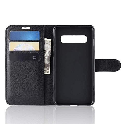 """Capa Capinha Carteira 360 Para Samsung Galaxy S10 Plus Tela 6.4"""" Polegadas Case Couro Sintético Flip Wallet Para Cartão, Abre E Fecha - Danet (Preta)"""