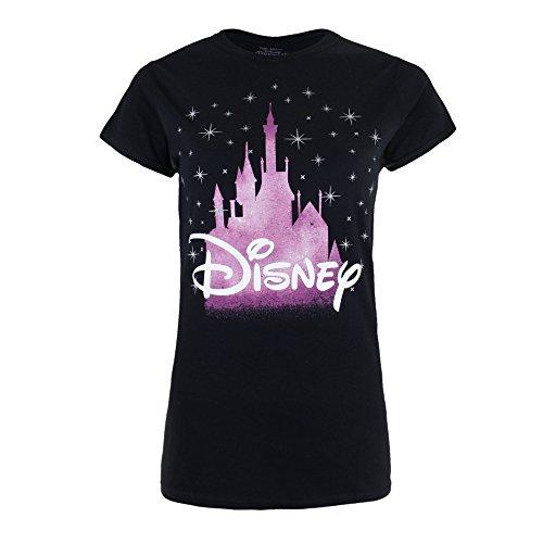 Disney Castle T-Shirt, Noir, L Femme