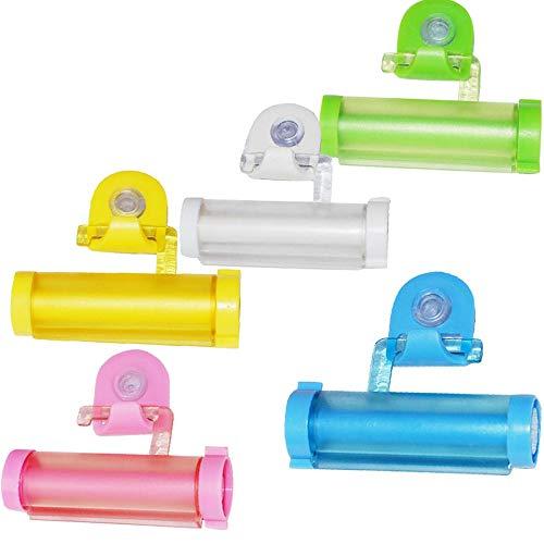 Limeow zahnpastaspender Squeezer Zahnpasta-Quetscher Kreative Zahnpasta Presse Zahnpasta-Quetscher-Zufuhr ABS-Kunststoff Zahnpasta Squeezer Roll Tube Zahnpasta(Insgesamt 3 Zufällige Farbe)