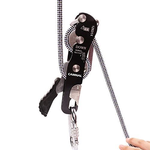 KOERIM Climbing Stop Descender 150kg Self-Braking Rescue Grab Clamp Climbing Carabiner Accessories