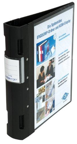 Wedo 5818001 Ordner Ergogrip Präsentationsordner (A4, 4-Ringmechanik, Kunststoff, 31,3 x 5,6 x 28,0 cm) schwarz
