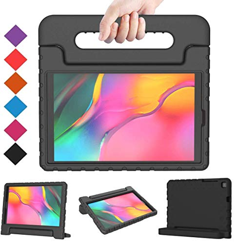 BMOUO for Samsung Galaxy Tab A 8.0 2019 Case SM-T290/T295, Galaxy Tab A 8.0 Case 2019, Shockproof Light Weight Protective Handle Stand Kids Case for Galaxy Tab A 8.0 inch 2019 Without S Pen - Black