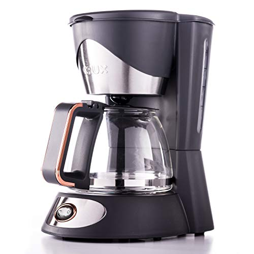 CRUX 5-Cup Coffee Maker with Reusable Filter & Pause & Serve Function