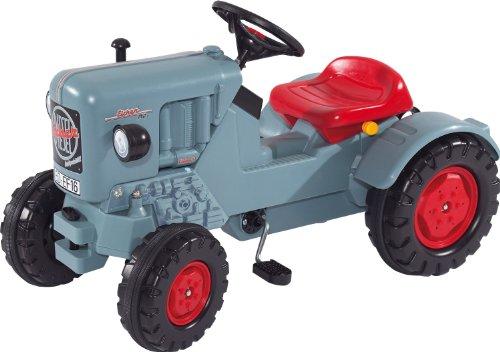 Big Trettraktor Eicher Diesel ED 16 - Spiel-Traktor mit 3-fach verstellbarem Sitz & weiteren Extras - für Kinder ab 3 Jahre - bis 50 kg belastbar