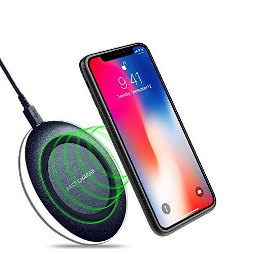 Draadloze mini-oplader, ultradun, QI, snel opladen, intelligente oplader, compatibel met een groot aantal hoogwaardige houders voor iPhoneX iPhone 8 Samsung S8 S7 Note8