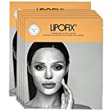 Anti Aging Lifting Hydrating Facial Treatment Bio Cellulose Face Mask Sheet for Woman, Man Skin Radiance Brightening. Made in Korea. LIPOFIX (5 masks)