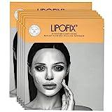 Traitement facial hydratant anti-âge Masque facial à la biocellulose pour l'éclat de la peau. Fabriqué en Corée. LIPOFIX (5 masques)