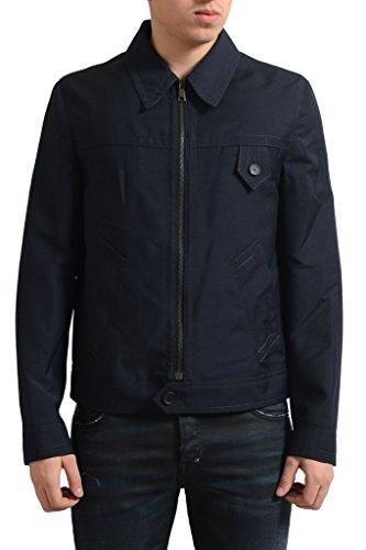 Prada Men's Navy Blue Mohair Wool Full Zip Jacket US M IT 50;