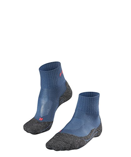 Falke Tk 2 Short Cool - Calcetines de Trekking para Mujer, Otoño-Invierno, Calcetines, Mujer, Color Iron Blue (6640), tamaño 41-42
