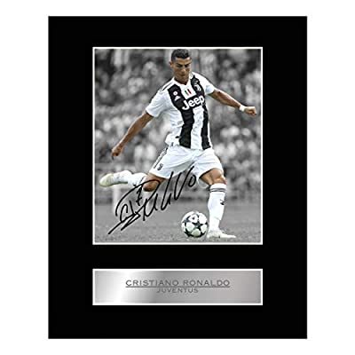 iconic pics Cristiano Ronaldo Signed Mounted Photo Display Juventus FC #01 Autographed Gift Picture Print