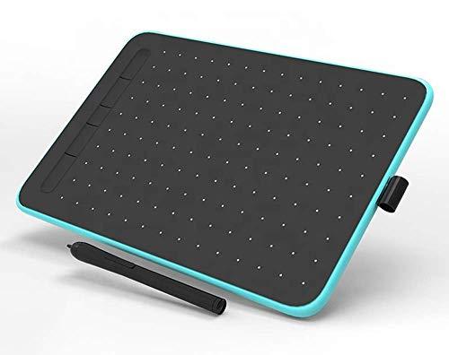 Ovegna W9 - Tablet gráfica digital, Micro USB, lápiz capacitivo, 10 pulgadas, para smartphone Android y PC, MacOS y Windows (azul)
