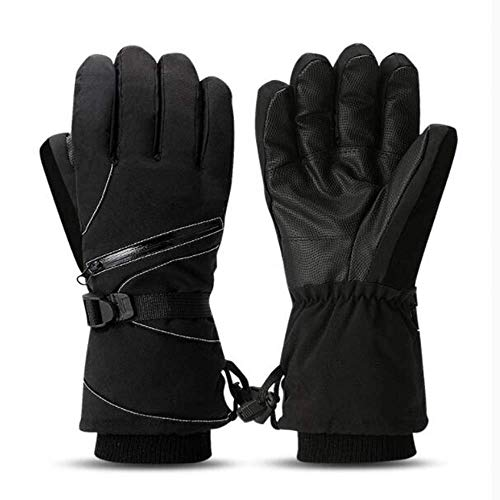 Ski handschoenen koud weer waterdichte winter sneeuw handschoenen ski snowboard handschoenen,Black,L