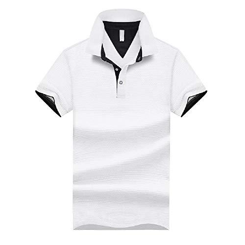 NOBRAND Werkkleding zomer effen kleur revers polo shirt heren korte mouw t-shirt borduurwerk