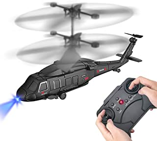 YongnKids 3.5 Channel Remote Control Helicopter RC Army Heli Toy with Gyro & Led for Kids Boys Girls Adults Indoor -A