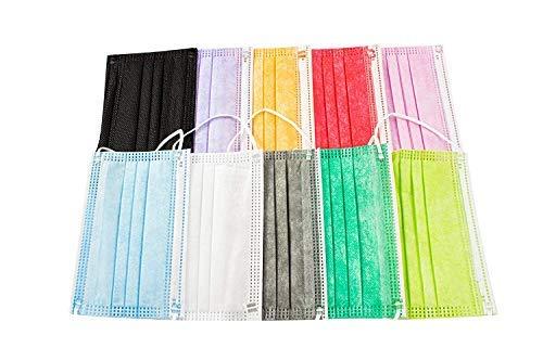 Mascarillas Higiénicas Mix Colores, Niños, 50 unidades (Colores-02)