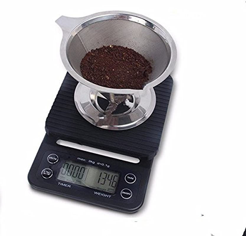 Ivykin Multi Function Digital Food Kitchen Scale Timer For Drip Pour Over Coffee Cooking Baking With Easy To Clean Rubber Mat