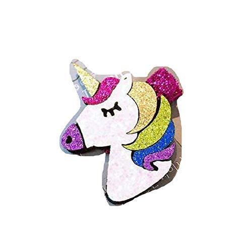Gwill 2 unids/set clips de pelo de unicornio para niñas pequeñas accesorios de pelo arco iris anillos mini pinza para el pelo para bebé niña