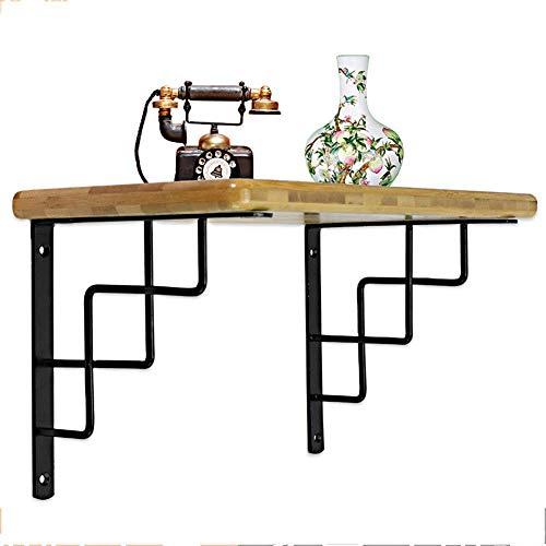 Soporte en L, soporte de estante de servicio pesado, soporte de esquina, soporte de ángulo recto, con orificio para colgar la ropa