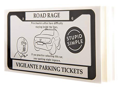 Joke Parking Tickets Road Rage Made Funny This Funny Parking Ticket Will Let Bad Drivers Know Exactly What Society Thinks of Them 10 Different Designs (50 Pages) Black and White