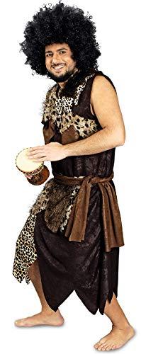 K31250867-46-48 - Disfraz de cueva, color marrn y negro, talla 46-48