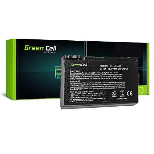 Green Cell® Standard Serie BATBL50L6 Batteria Per Portatile Acer Aspire 3100 3650 3690 5100 5101 5102 5103 5110 5200 5610 5630 5650 5680 (6 Pile 4400MAh 11.1V Nero)
