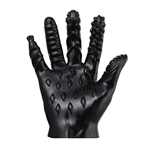 Clareta Sex Magic Palm Hand Masturbator Glove Female Masturbation Breast Nipple Vagina Massage Glove Couple Flirting Sex Toys,XiaoYao-BlackA