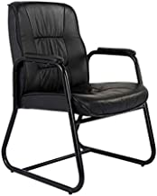 Mahmayi Atvor Executive Leather Visitors Chair, Black, 17 kg, TA515VBL