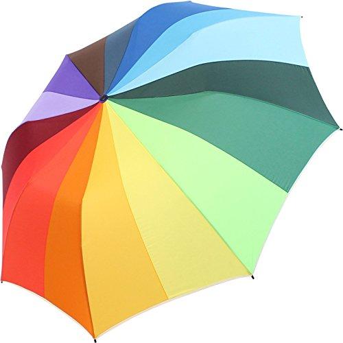 iX-brella Paraguas XXL, 124 cm, 16 colores, arcoíris, paraguas de bolsillo multicolor