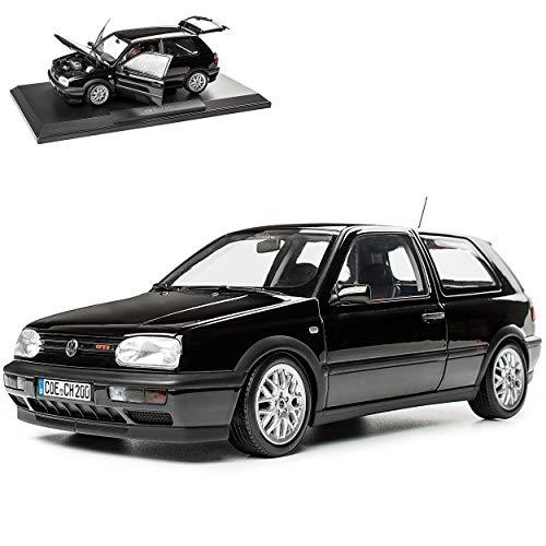 Volkwagen Golf III G-T-I Schwarz 3 Türer 1991-1997 1/18 Norev Modell Auto mit individiuellem Wunschkennzeichen