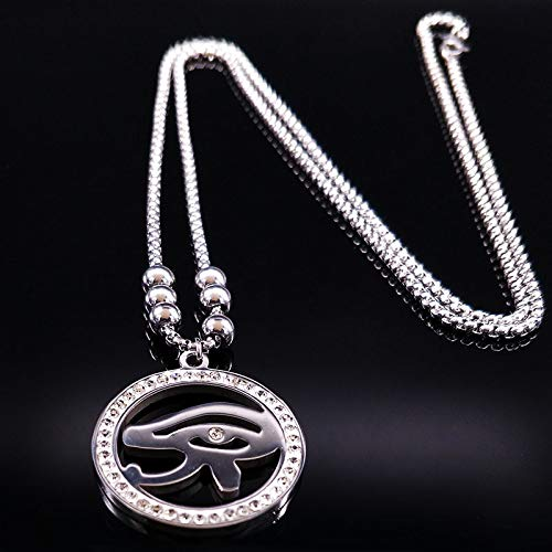 Eye Of Horus Stainless Steel Long Necklaces Egypt Eye Of Horus Egyptian Necklaces Jewelry Collares