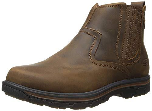 Skechers Men's Relaxed Fit Segment - Dorton Boot,Dark Brown,9.5 M US