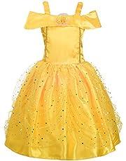 Lito Angels Disfraz de la Bella y la Bestia Vestido de Princesa para Niñas Pequeños de Carnaval Fiesta Cumpleaños Halloween Festival