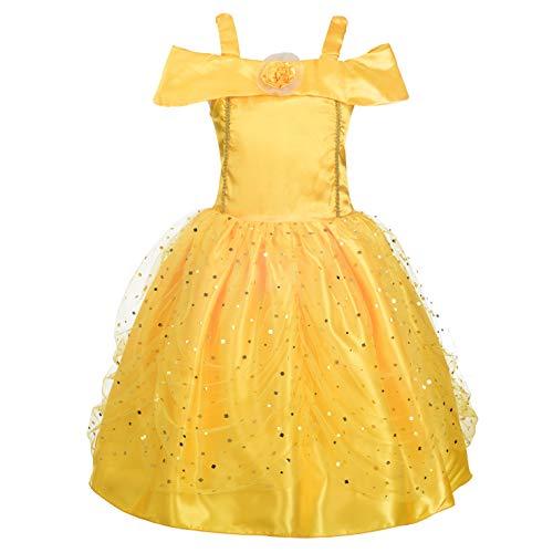 Lito Angels Disfraz de Princesa Belle para niña Fiesta de Disfraces de Halloween Vestidos de Cumple años Talla 10-11 años 229