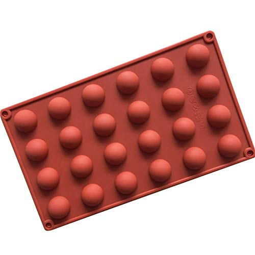 BrawljRORty Ice Cube Trays, 24 Cavities Silicone Chocolate Cake Mold Pudding Jelly Fondant DIY Baking Tool Reusable and BPA Free, for Cocktail, Whiskey, Keep Drinks Chilled – Red
