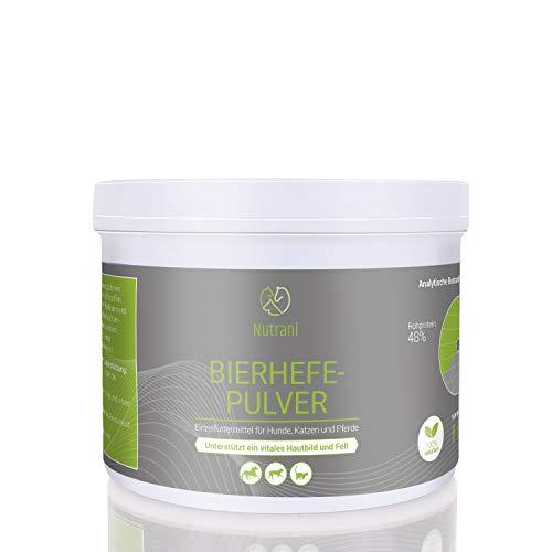 Nutrani Bierhefepulver für Hunde, Katzen und Pferde|250g – 100% natürliche Bierhefe mit wertvollen B-Vitaminen, Mineralien und Spurenelementen für glänzendes Fell und Vitale Haut