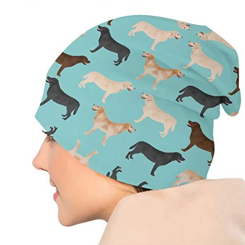 Preisvergleich Produktbild Damen & Herren Wintermütze / Wintermütze,  weich,  warm,  mit süßen Labradoren,  Gelb / Schokolade / Schwarz