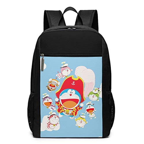 Hdadwy Funny Fashion Adult Doraemon Pirate Captain and Seven Sailors Mimeograph Computer Knapsack Black 17