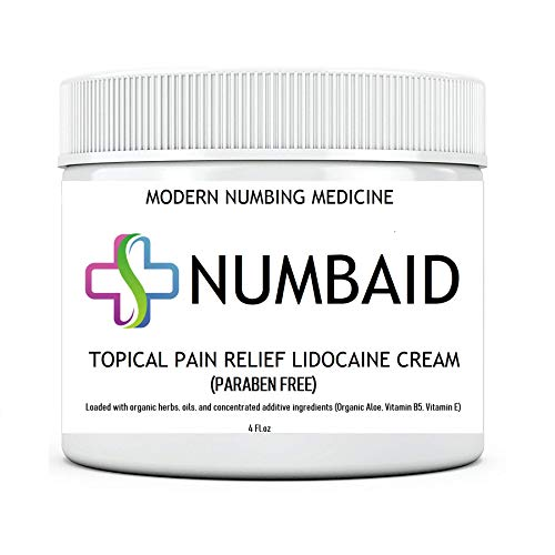 NUMBAID, 5% Lidocaine, for Deeper Penetration, Topical Numbing Cream, Local and Anorectal Discomfort, 4 Fl. oz