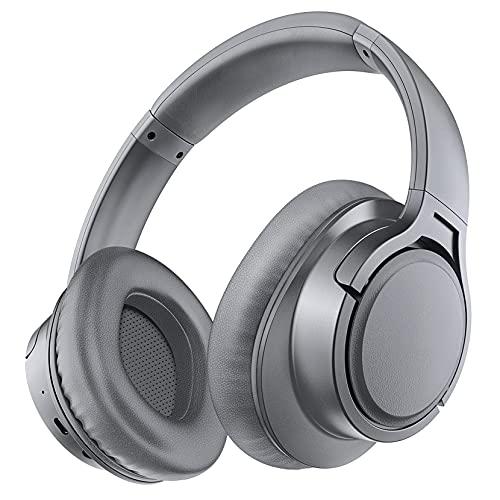 Cuffie Bluetooth, Cuffie Senza Fili Over Ear con Microfono, Auricolare Stereo Hi-fi, Modalità Cablata Wireless, 25 ore di Riproduzione per Bambini, Adulti, TV, PC, Lezioni Online, Ufficio a Casa