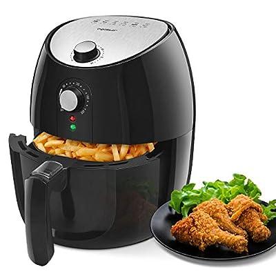 Aigostar Hayden Pro - Friteuse électrique sans huile, friteuse à air chaude, 1500 W, panier de friture anti-adhérant, fonction d'arrêt automatique. Sans BPA, facile à nettoyer.