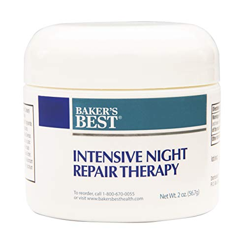 Baker's Best Intensive Night Repair Therapy Beauty Cream | Anti-Aging Night Cream | Face Moisturizer for Wrinkles and Age Spots - 2 Ounce